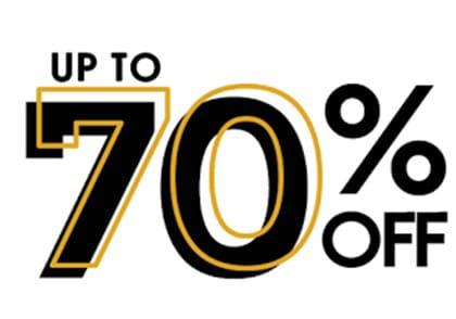 تخفیف تا 70 درصد